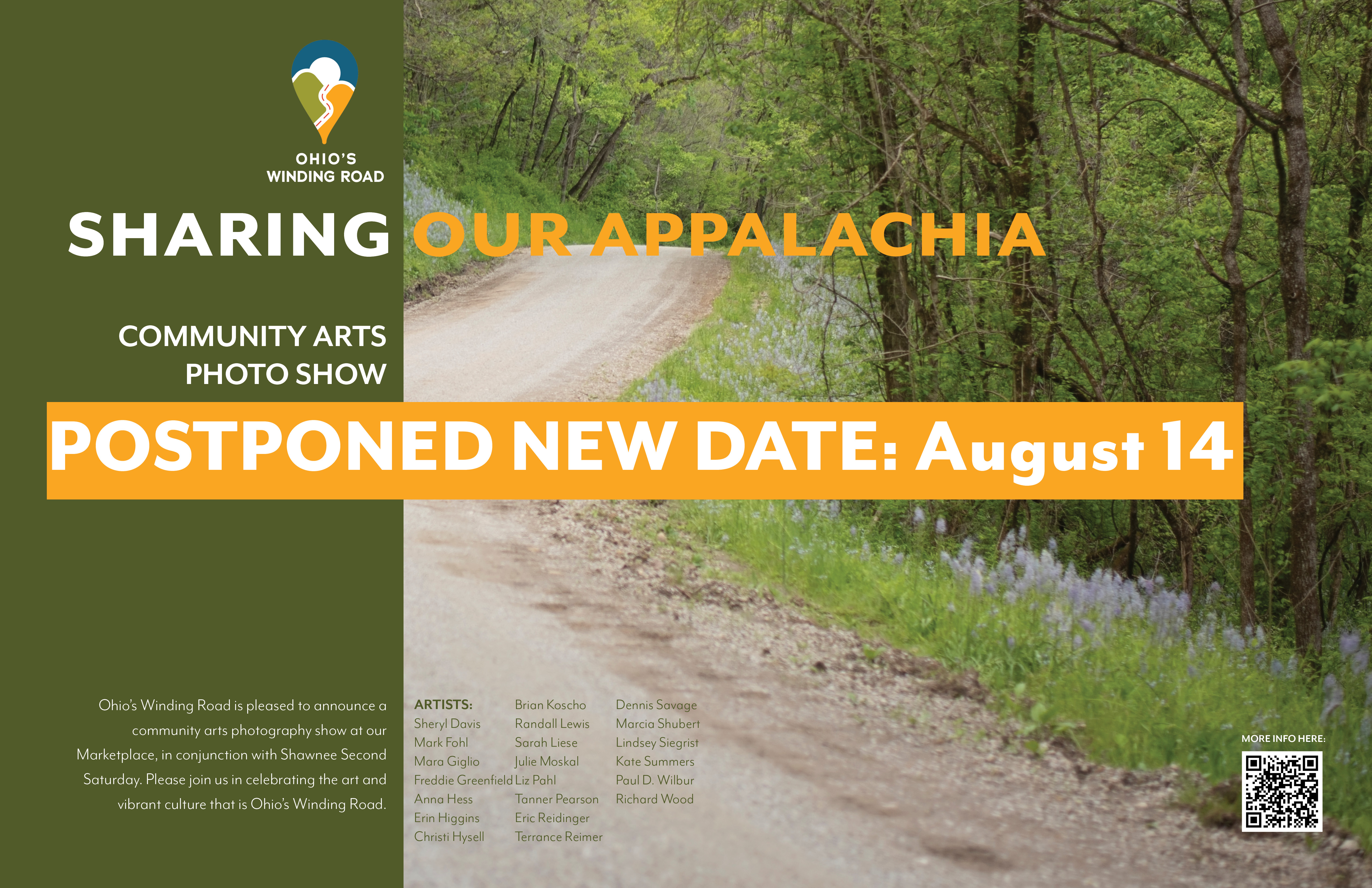 """""""Sharing Our Appalachia"""" Community Arts Photo Show Opens August 14"""
